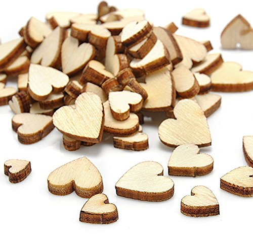 Crafts Diy - Sell Wedding 100pcs Wood Wooden Love Heart Rustic Table Scatter Decoration Crafts Diy - Kids Adults Girls -