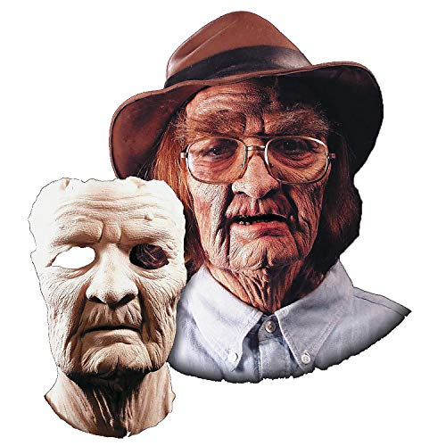 Fun Express - Prosthetic Old Age Mask for Halloween - Apparel Accessories - Costume Accessories - Masks - Halloween - 1 Piece]()