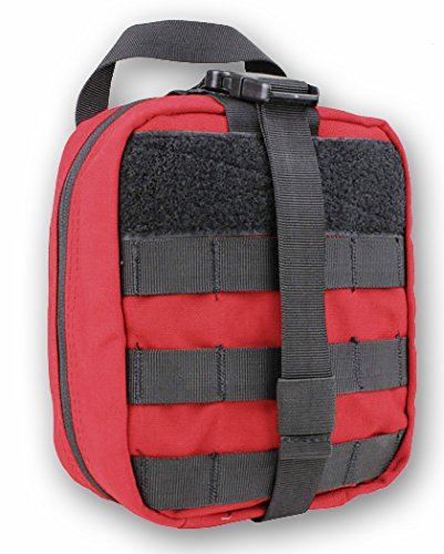 Tactical Rip Away EMT Pouch (RED) - Empty