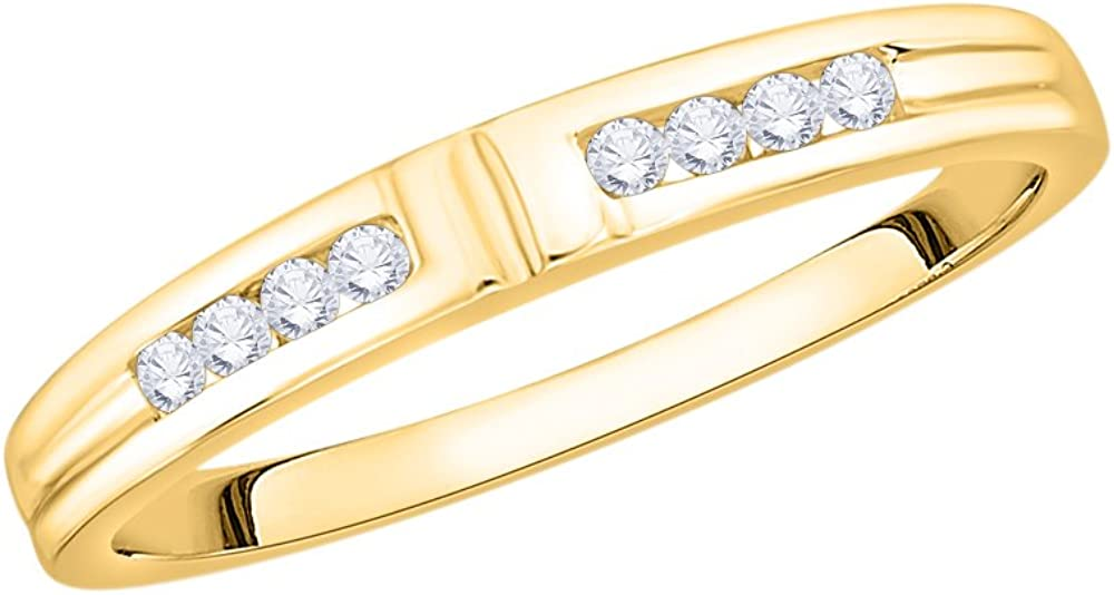 Size-9.25 1//8 cttw, Diamond Wedding Band in 14K Yellow Gold G-H,I2-I3