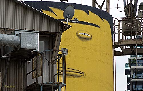 Home Comforts Peel-n-Stick Poster of Suspicious Granville Island Concrete Vancouver Silo Vivid Imagery Poster 24 x 16 Adhesive Sticker Poster - Granville Vancouver Island