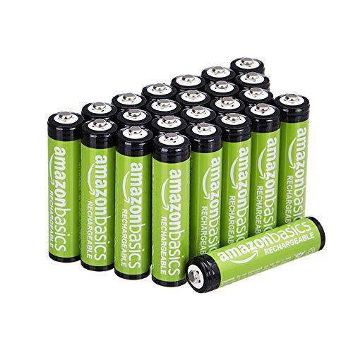 Amazon Basics AAA-Batterien, 800 mAh, wiederaufladbar, 24 Stück