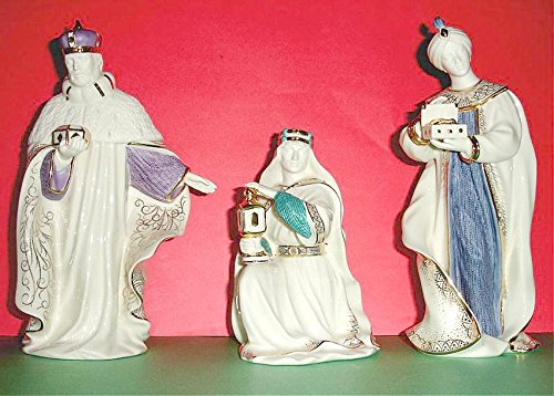 Lenox First Blessing Nativity The Three Kings Figurines Balthazar Gaspar Melchior - Figurine King Melchior