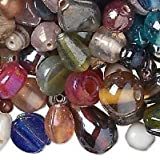1037AS BULK Glass Bead Mix, Assorted Shapes, Large to Small, pkg of 1 kilogram