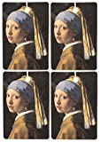Set of Four Girl With The Pearl Earring Air Fresheners, Faded Denim