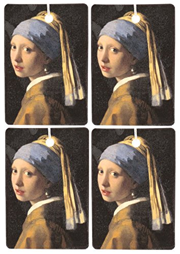 Set of Four Girl With The Pearl Earring Air Fresheners, Jasmine by Eclectic Lady