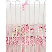 Solid Pattern My Baby Sam Rosebud Lane Crib Bumper for Baby Girls
