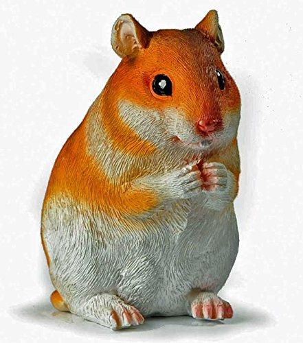 Tierfigur kleiner Hamster Deko-Tier Polyresin Höhe 10 cm Skulptur