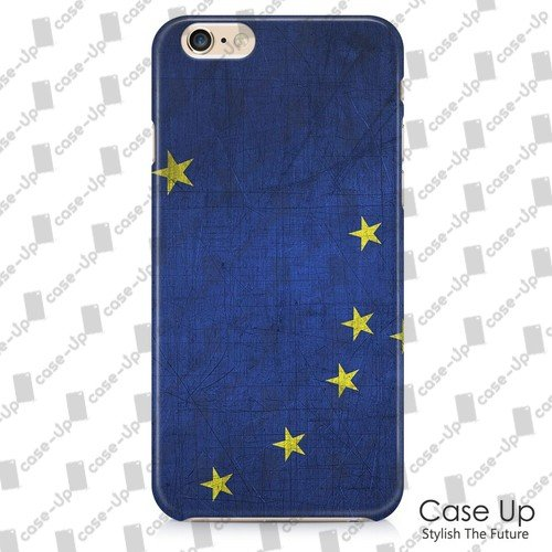 CASEUP Alaska US State Flag Snap On Hard Phone Case for iPhone 6 (4.7) (Metal Background Layer)