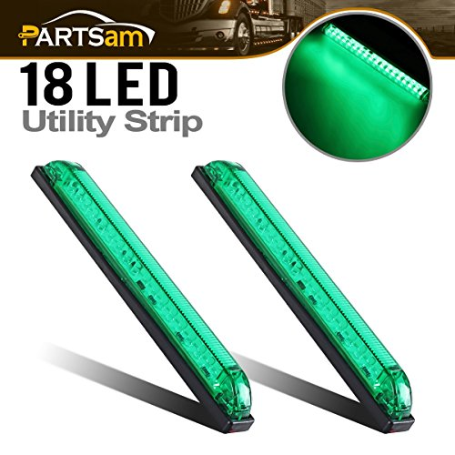"Partsam 2pcs 8"" Led Marker Light Utility Strip Light Bar For"