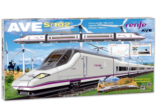 (PEQUETREN Pequetren710 High Speed Renfe Ave S-102 Model Train with Detours and Diorama Landscape.)