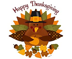 Edible Cake Images Thanksgiving : Amazon.com: Thanksgiving Turkey Edible Cupcake Toppers ...