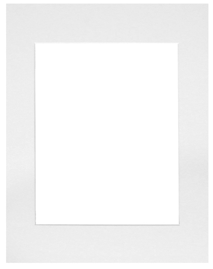 50 set of White 12x12 Photo Mats for 8x8 + backing