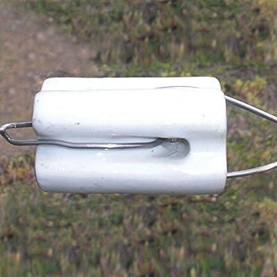 Patriot Electric Fencing Bullnose Porcelain Insulator 10/pk