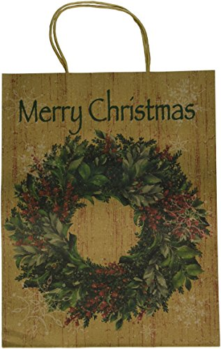 Large Holiday Wreath Handles Paper