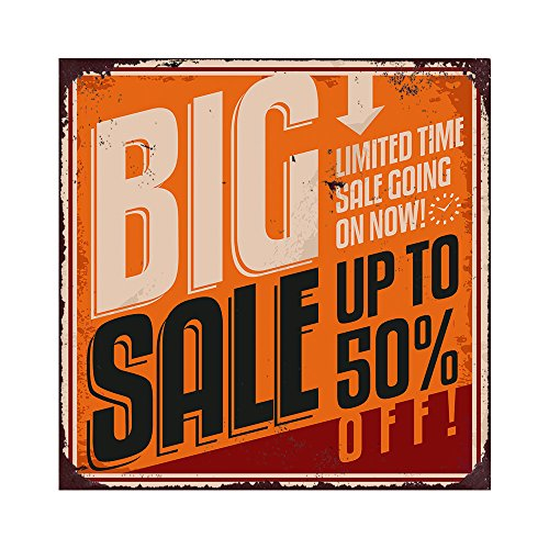 AnnaStoree Metal Signs BIG SALE UP TO 50% OFF LIMITED TIME SALE COMING ON NOW Retro Vintage Chic Style Decorative Aluminum Metal Signs Décor for Shopping Mall 12