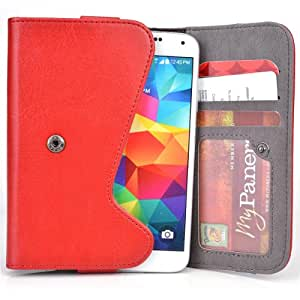 5 Inch Phone Wallet Case with Belt Loop and Credit Card Slots fits Philips T3566