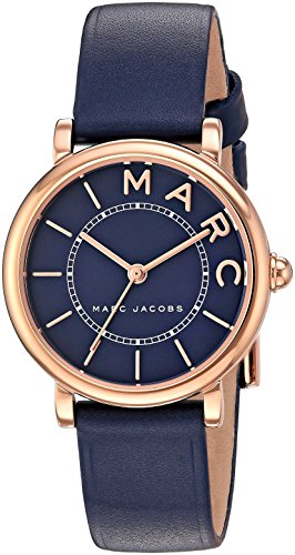 마크제이콥스 록시 시계 마크 제이콥스 Marc Jacobs Womens Roxy Quartz Stainless Steel and Leather Casual Watch, Color:Blue (Model: MJ153
