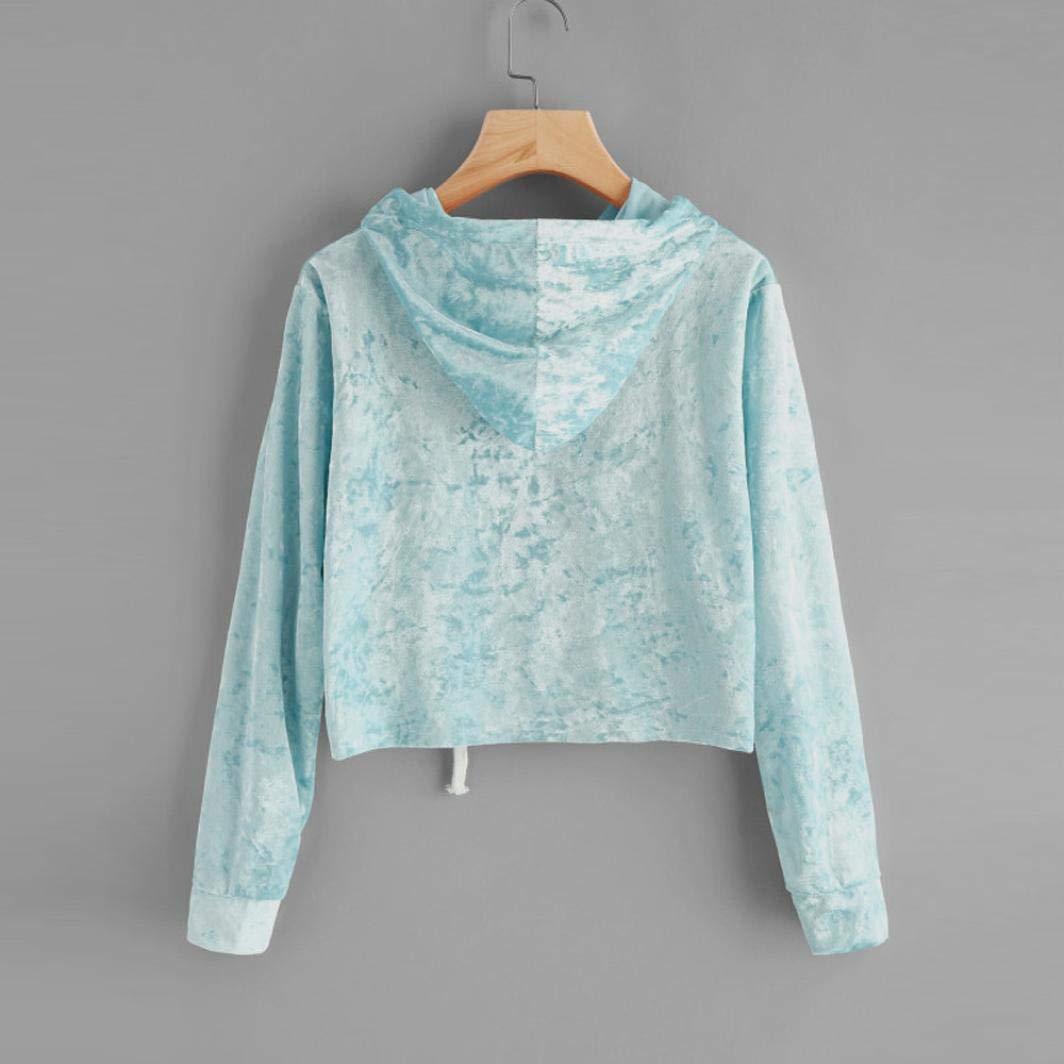 Spbamboo Womens Long Sleeve Hoodie Sweatshirt Jumper Pullover Tops Velvet Blouse by Spbamboo (Image #3)