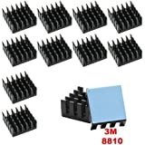 Gadgeter 10pcs Aluminum Heatsink Cooler Circuit Board Cooling Fin for Raspberry Pi,VGA RAM,IC Chips,Mosfet SCR,South…