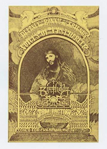 Bill Graham Postcard 262 Ad Back Delaney Bonnie & Friends 1970 Oct 25