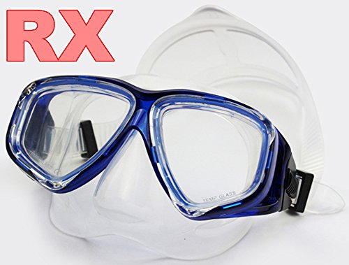 YEESAM ART Diving Mask Snorkeling Mask for Nearsighted Eyes, Myopia Myopic Scuba Dive Snorkel Mask with Nearsight Optical Corrective Prescription Lenses RX Customized (Blue, -8.0)