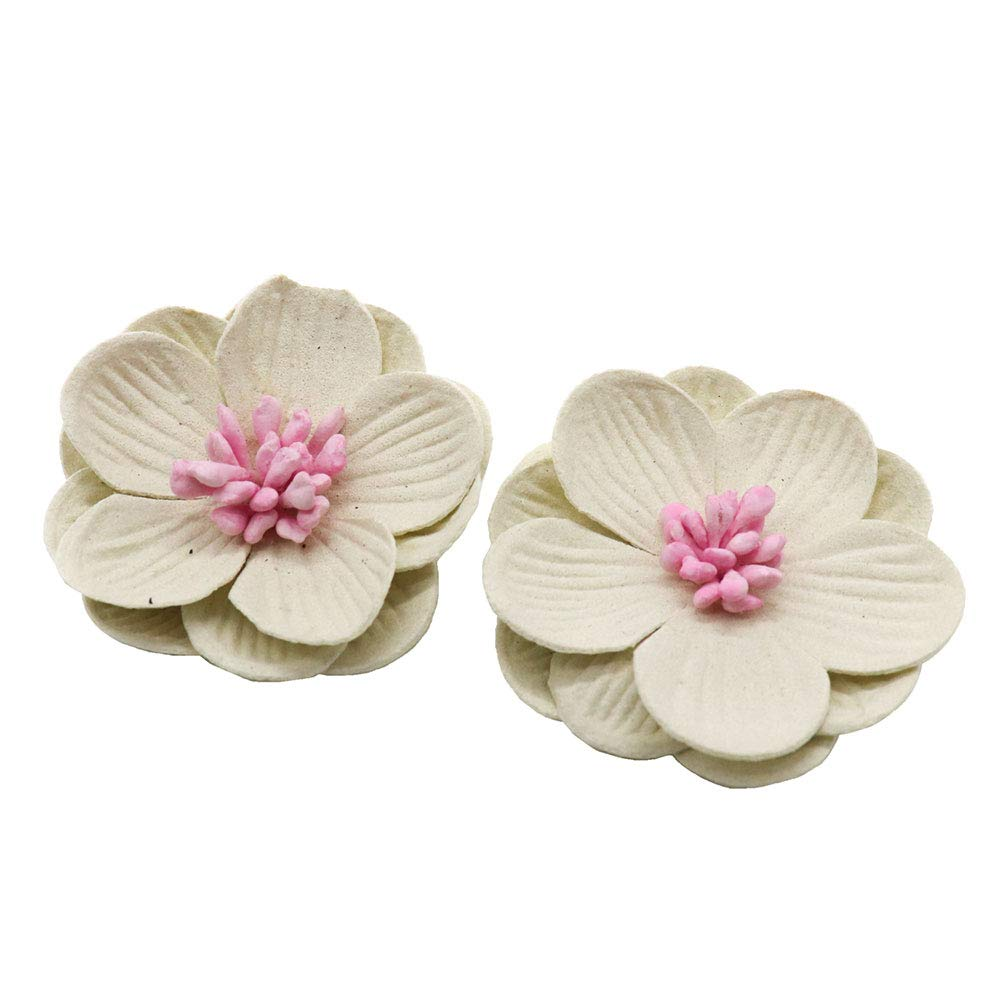 b040b70bb01 Amazon.com  5pcs 4cm Artificial Leather Flower Head DIY Wedding Shoes  Headdress Crafts (C1 White 5pcs)  Home   Kitchen