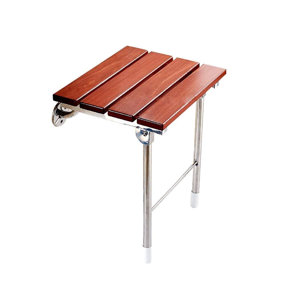 HYZYSDEN Shower Stool Shower Chair, Folding Chair Shower Chair Wall Stool/Carrying 160 Kg/Solid Wood Stool Pregnant Women Shower Chair 38 34 46cm