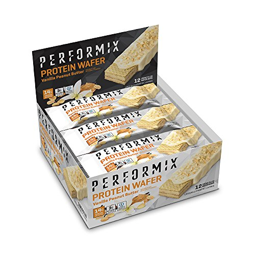 PERFORMIX Protein Wafers V2, Vanilla Peanut Butter ioProtein Blend 12 Count ()