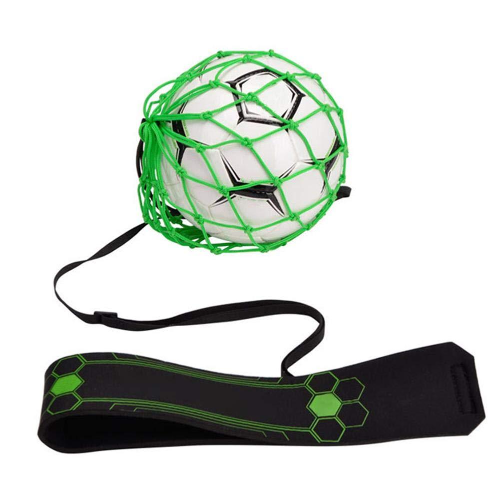 Dough.Q Football Kick Trainer Bolsa De Malla Neta Soccer Aid para Ni/ños Y Adultos Manos Libres Pr/áctica Individual con Cintur/ón El/ástico Cuerda para No.3 4 5 Bola