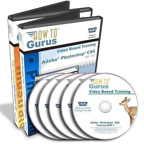 Adobe Photoshop CS4 Tutorial and Adobe Illustrator CS4 Training on 5 DVDs (Adobe Cs4 Windows)
