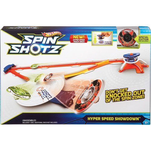 Hot Wheels Spinshotz Hyper Speed Showdown Play Se (Set Tub Wheel)