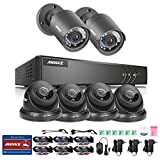 Annke 8CH 720P Surveillance DVR and (6) 1280TVL CCTV High Resolution Security Cameras with IR-cut Day/Night Vision IP66 Weatherproof, Email & Push Notification For Sale
