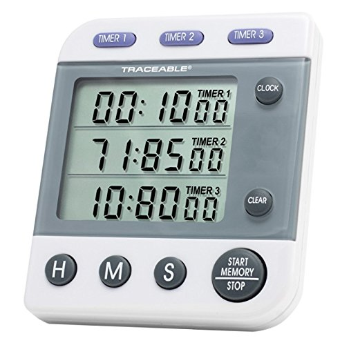 Control Company 5008 Traceable Three-Line Alarm Timer by Control