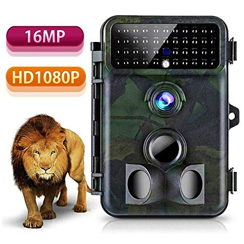 Wildlife Trail Camera,16MP 1080P Wildlife Camera 125° Detecting Range and 66 FT Motion Activated with 2.4'' LCD Display IP 66 Waterproof Protected