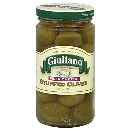 Giulianos Feta Cheese Stuffed Olive, 7 Ounce -- 6 per case. by Giulianos