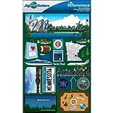 Reminisce Jet Setters 2 3-Dimensional Sticker, Minnesota