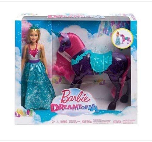 Barbie Dreamtopia Princess Doll and Purple Unicorn