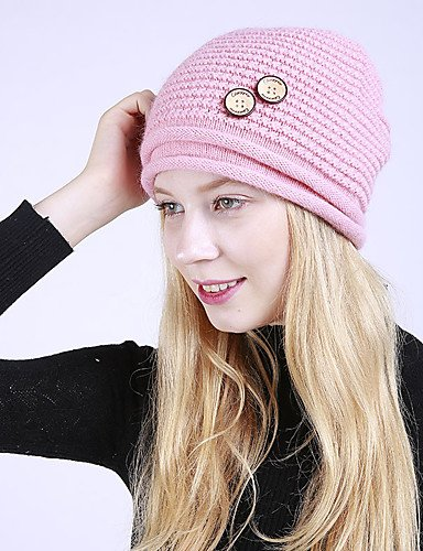 blushing Casual Wine Cute ZYT Braided Acrylic Hat Floral Beige Fuchsia Vintage pink Floppy Women's Roman Khaki Pink Winter Knit Blushing qcUSp8fgq