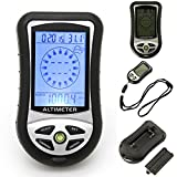 osierr6 8 In 1 Digital Compass LCD Altimeter Barometer Thermometer, Multifunctional Outdoor Digital LCD Altimeter Thermometer Weather Forecast Clock