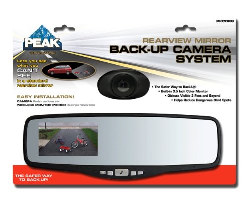 Amazon.com: Peak PKC0RG Small Rearview Mirror with 3.5-Inch Backup ...