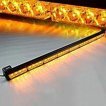 Xprite 35.5 32 LED Yellow 7 Modes Traffic Advisor / Advising Emergency Warning Vehicle Strobe Top Roof Light Bar Kit