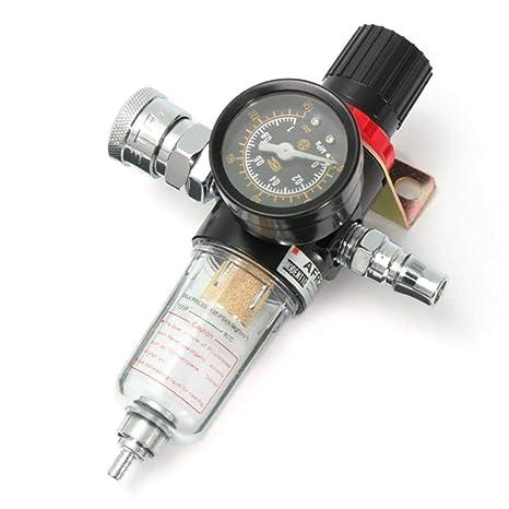 Yongse 1/4 Pulgadas regulador del compresor de Aire regulador de la presión del medidor