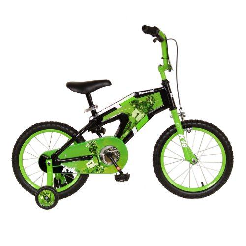 Kawasaki Monocoque Kid's Bike, 16 inch Wheels, 11 inch Frame, Boy's Bike, - Kawasaki Girls Bike