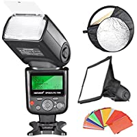 Neewer® Professional i-TTL Flash Reflector Kit for Nikon D7100 D7000 D5200 D5100 D5000 D3000 D3100 D300 D300S D700 D600 D90 D80 D70 D70S D60 D50 Digital SLR Cameras, includes (1)Neewer VK750 II i-TTL Speedlite Flash with LCD Display for Nikon, (1)6x8/20x15cm Dome Softbox, (1)22/60cm 5-in-1 Reflector, (1)35-piece Color Gel Filters