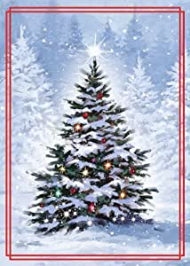 Amazon Com Paper Magic Group Tree Scene Christmas Cards