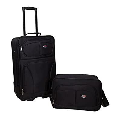 chic American Tourister Luggage Fieldbrook Two Piece Set Bag, Black, 2 Piece Nested Set