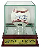 "SF Giants Willie Mays Autographed Official MLB Baseball w/ ""Say Hey"" Inscription w/ Custom Case (COA)"