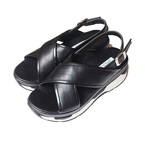 GeMini サンダル レディース スポーツサンダル 厚底 スポーティ 歩きやすい ブラック