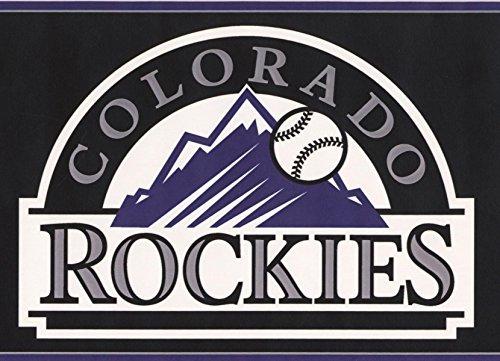Colorado Rockies MLB Baseball Team Fan Sports Wallpaper Border Modern Design, Roll 15' x - Team Mlb Tool